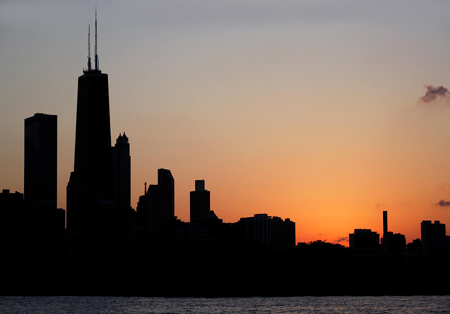 Chicago Skyine at Sunset by Marilyn Hunt