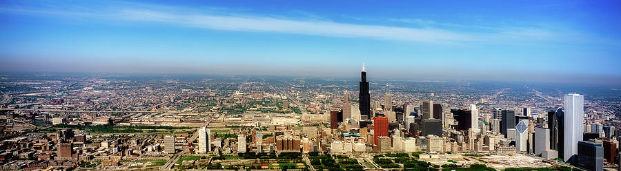 1990s Photograph - Chicago Skyline - 1990s by L O C