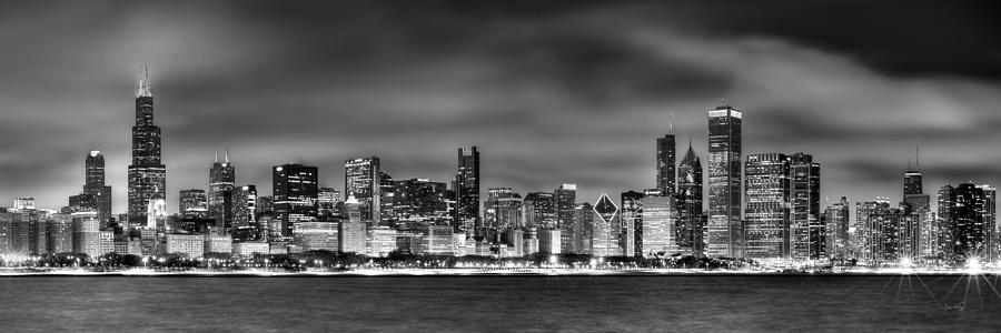 Chicago Skyline At Nig...