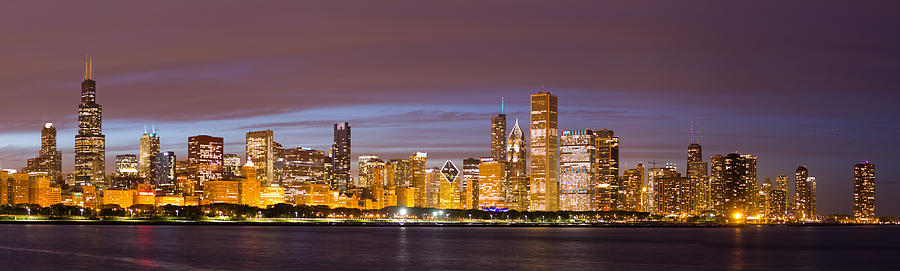 Chicago Skyline From Adler Photograph By Twenty Two North Photography