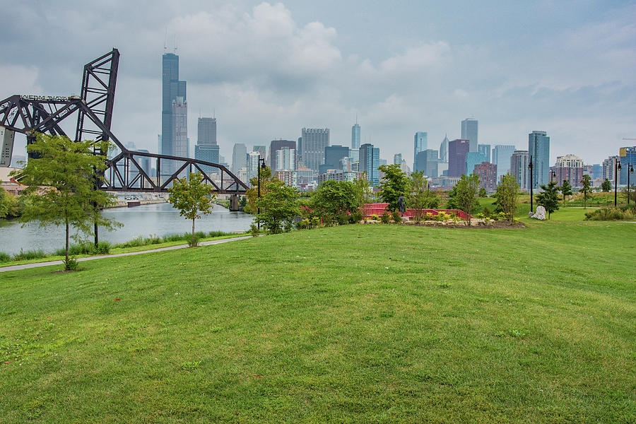 Chicago Photograph - Chicago Skyline From The Southside by Anthony Doudt