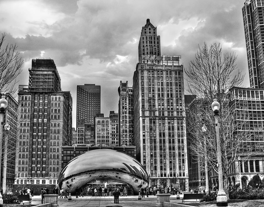 Chicago photograph chicago skyline in black and white by tammy wetzel