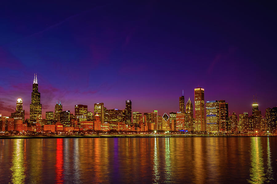 12d303393be Chicago Skyline Magic Photograph by Daniel Pope