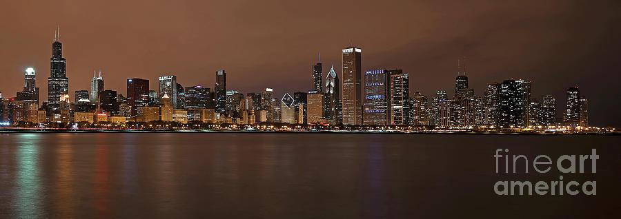 Chicago Photograph - Chicago Skyline Panorama by Eddie Yerkish