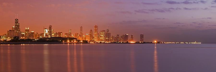 Chicago Skyline Photograph - Chicago Skyline Panoramic 2 by Sven Brogren