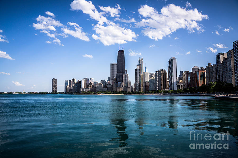 2012 Photograph - Chicago Skyline Photo With Hancock Building by Paul Velgos