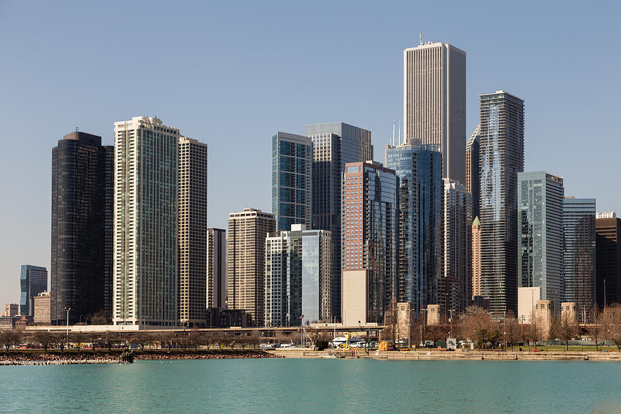 Chicago Photograph - Chicago Skyline by Terri Morris