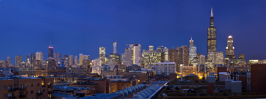 Chicago Skyline West Side by Robert Harshman