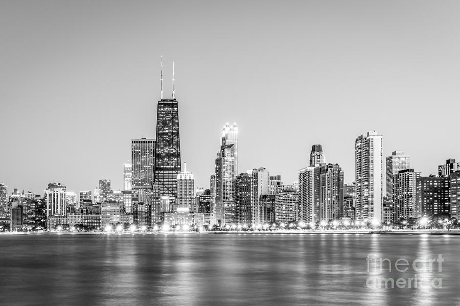Chicago Skyline With Hancock Building Photo Photograph