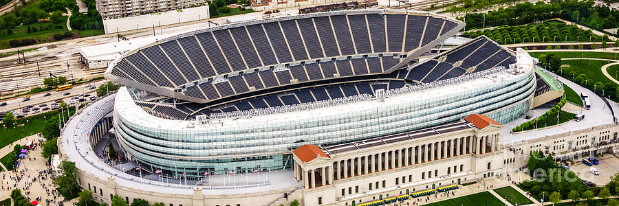 Chicago Soldier Field Aerial Photo Photograph