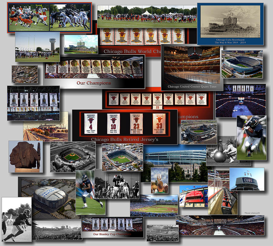 chicago sports collage 02 photograph by thomas woolworth