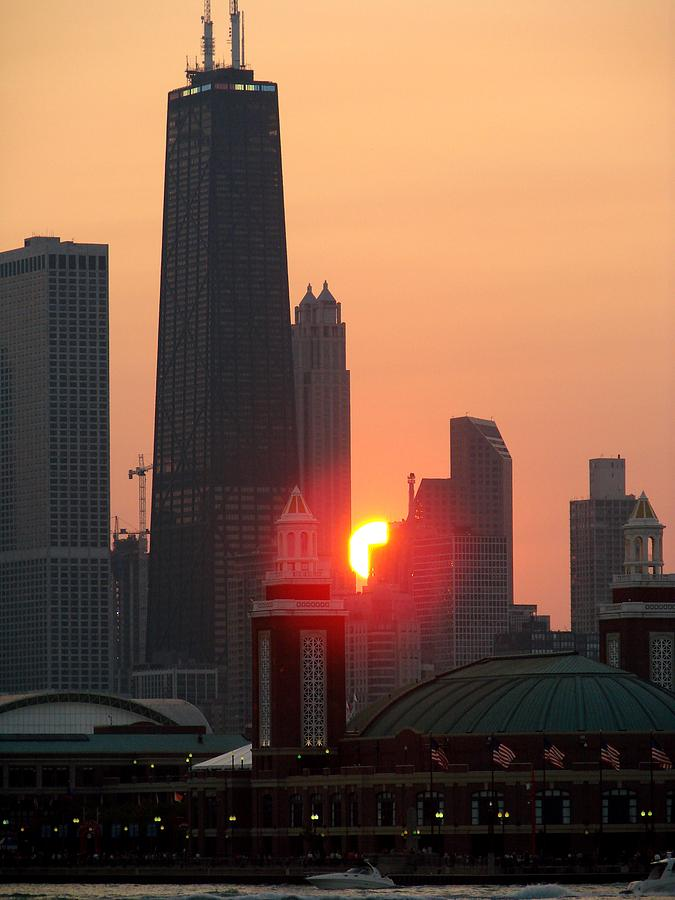 Sunset Photograph - Chicago Sunset by Glory Fraulein Wolfe