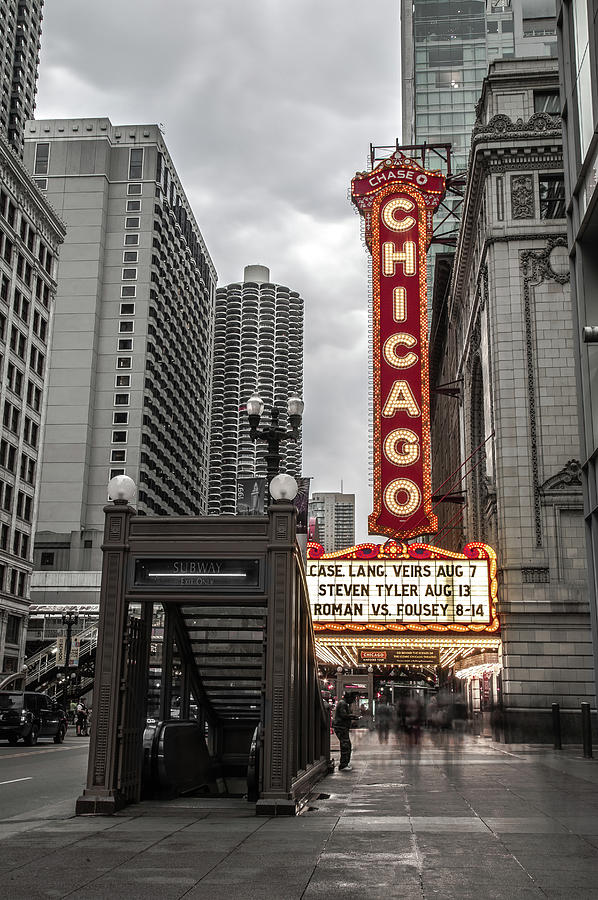 Chicago Photograph - Chicago Thetre by Ryan Smith