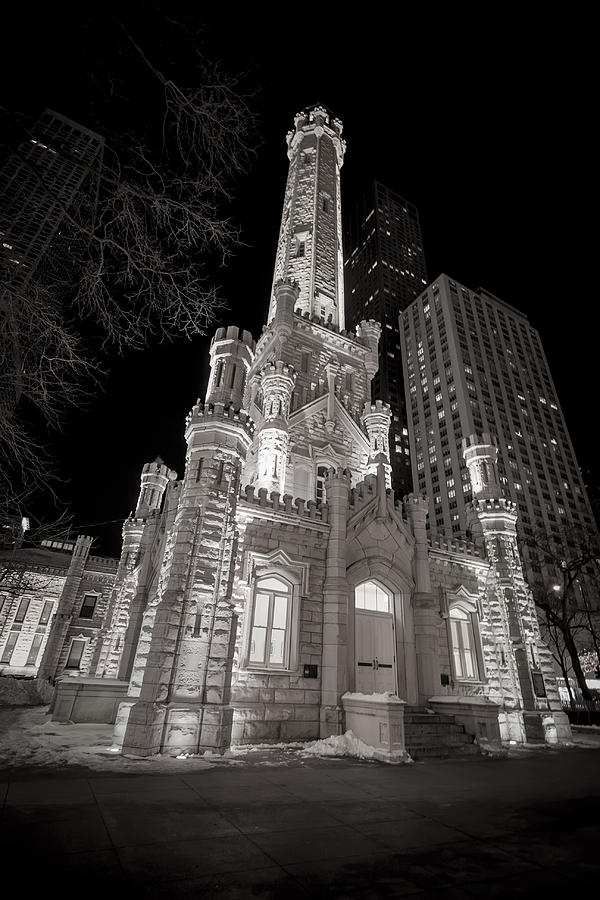 America Photograph - Chicago Water Tower by Adam Romanowicz