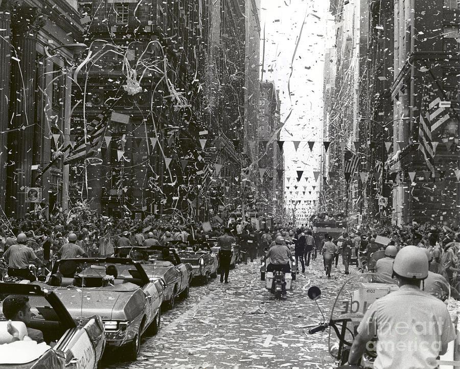 Chicago Photograph - Chicago Welcomes Apollo 11 Astronauts by Nasa