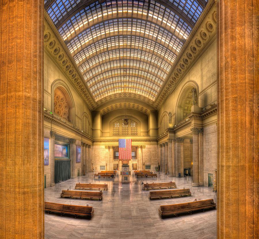 Chicago Photograph - Chicagos Union Station by Steve Gadomski