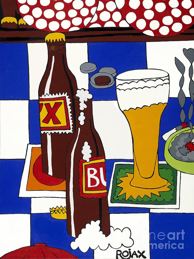 Chichis Y Cervesas Painting by Rojax Art