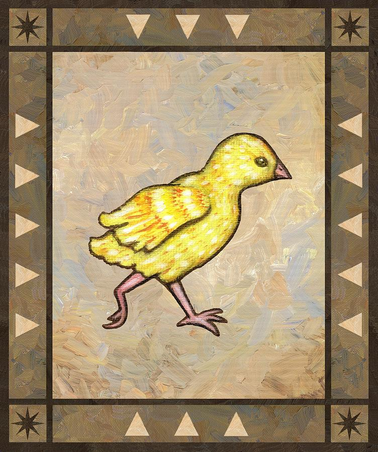Chick Painting - Chick Four by Linda Mears