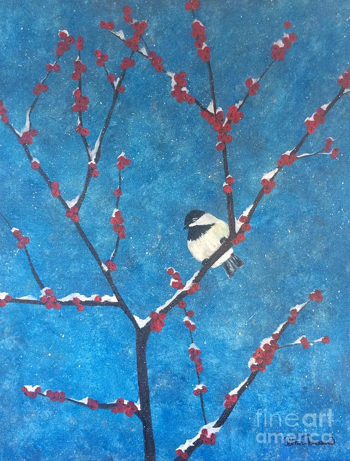 Chickadee Bird by DENISE TOMASURA