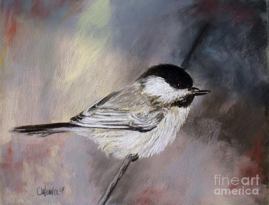 Chickadee Painting - Chickadee by Cathy Weaver