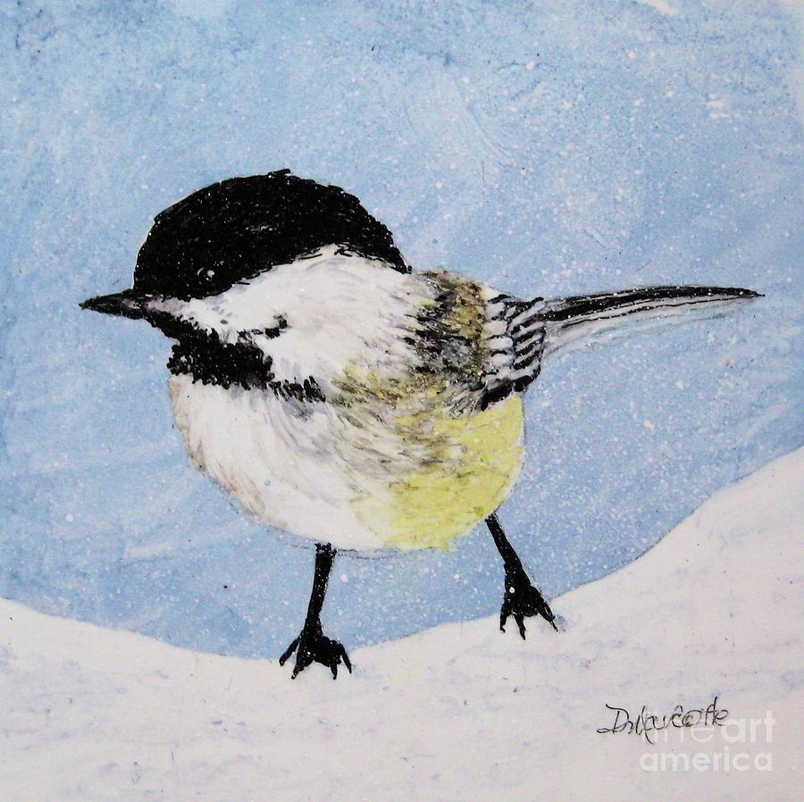 Chickadee Painting - Chickadee by Diane Marcotte