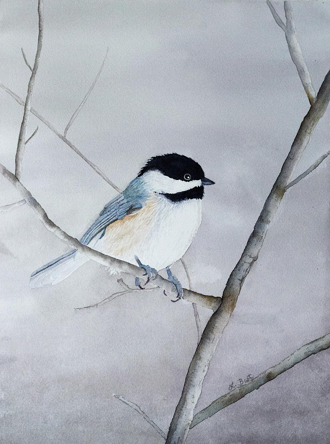 Chickadee Painting - Chickadee II by Laurel Best