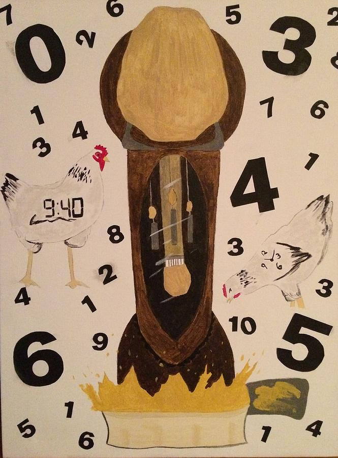 Chicken Clock by Samantha L