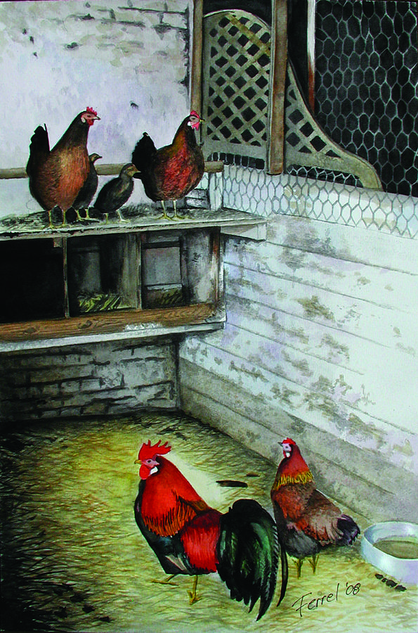 Far Painting - Chicken Coop by Ferrel Cordle