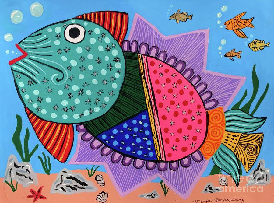Chicken pox Trout by Margie-Lee Rodriguez
