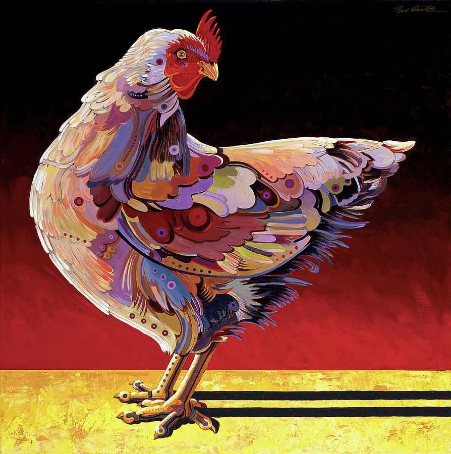 Animal Paintings Painting - Chickenscape II by Bob Coonts