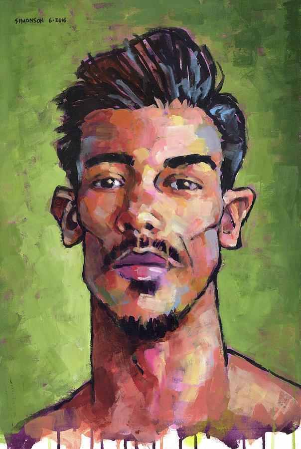 Portrait Painting - Chico by Douglas Simonson