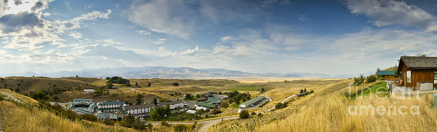 Chico Hot Springs Photograph - Chico Hot Springs Pray Montana Panoramic by Dustin K Ryan
