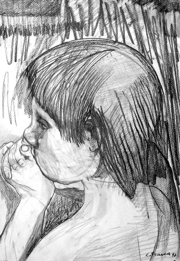 Drawing Painting - Chico Llamando Aves by Claudio Frasca