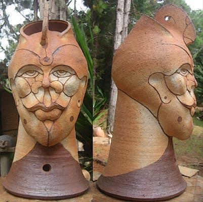 Head Ceramic Art - Chief by Alberto Cidraes