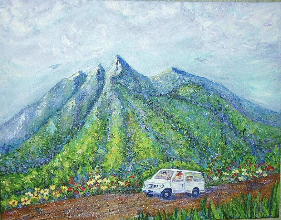 Mountains Painting - Chief And Amigos South Of The Border by Sheri Hubbard