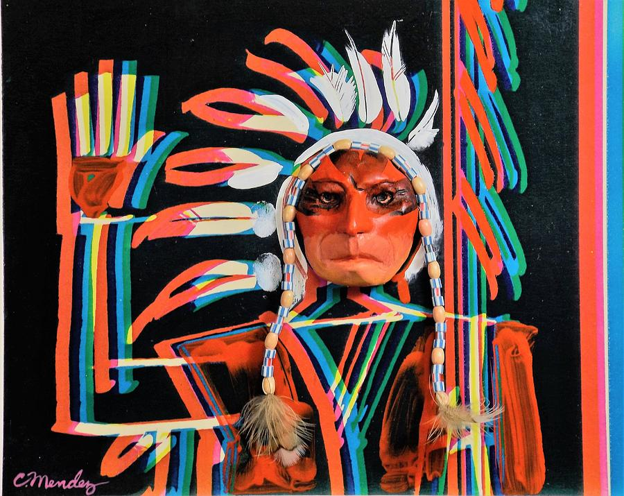 Native American Painting - Chief Brill Yount by Charles Mendez