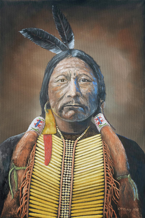 Indian Painting - Chief Buckskin Charley by Jerry McElroy
