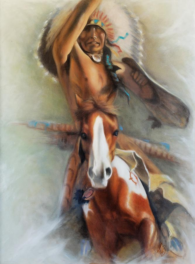 Native American Painting - Chief Hole In The Day by Elizabeth Silk