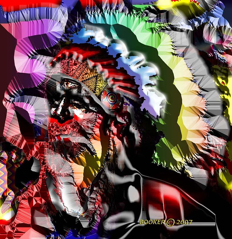 Portrait Mixed Media - Chief Holiday by Booker Williams