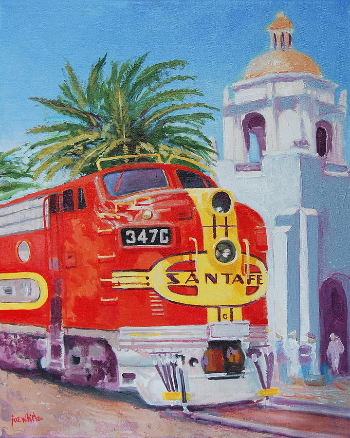 Railroad Painting - Chief In San Diego by Joe White