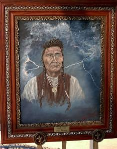 Chief Joseph Painting by Larry Spradling