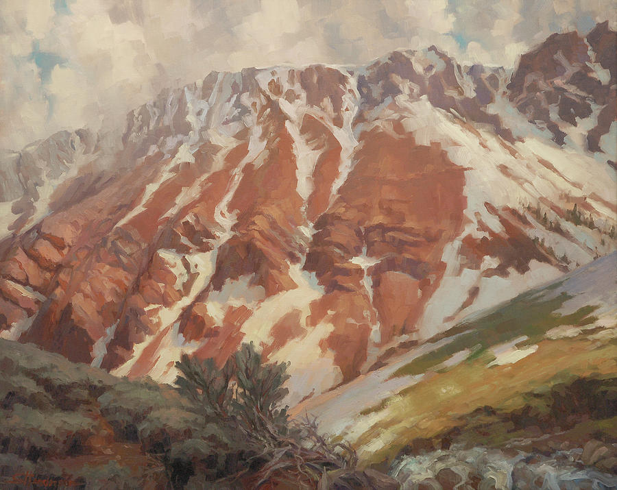 Mountain Painting - Chief Joseph Mountain by Steve Henderson