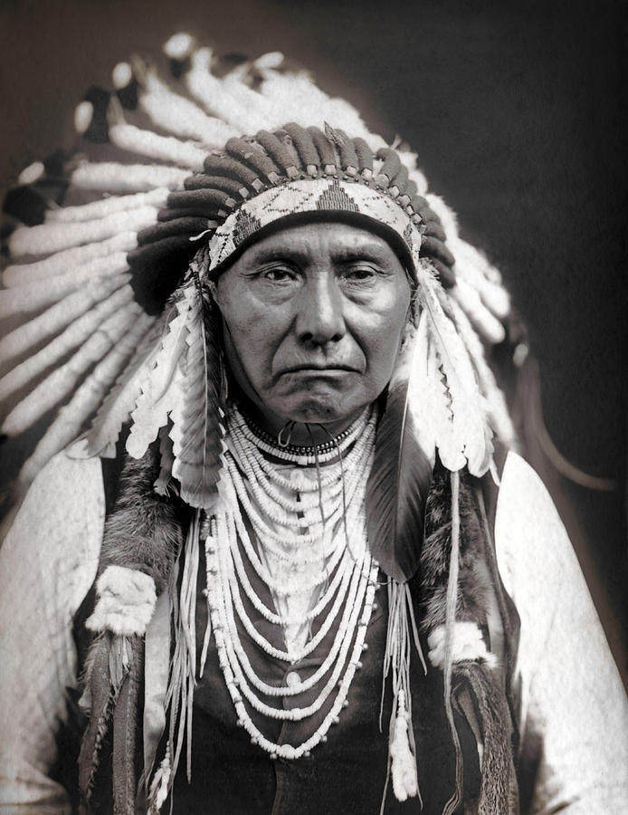 Indian Photograph - CHIEF JOSEPH of the NEZ PERCE TRIBE by Daniel Hagerman