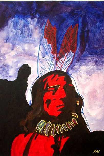 Chief Painting by Kitty Schwartz
