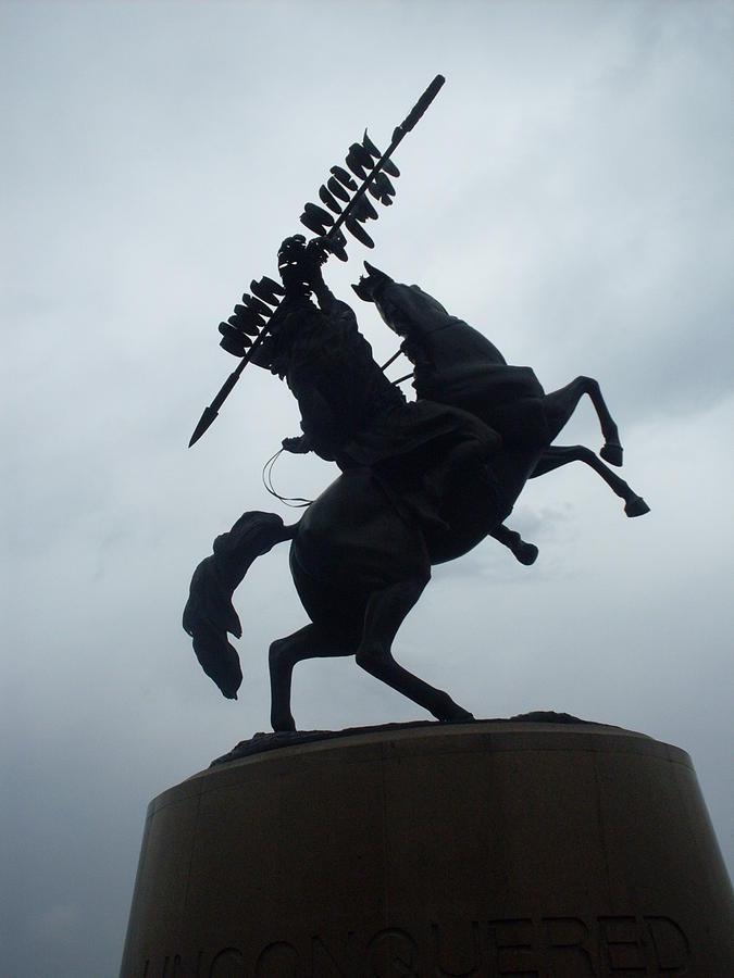 Horse Photograph - Chief Osceola Statue by Warren Thompson