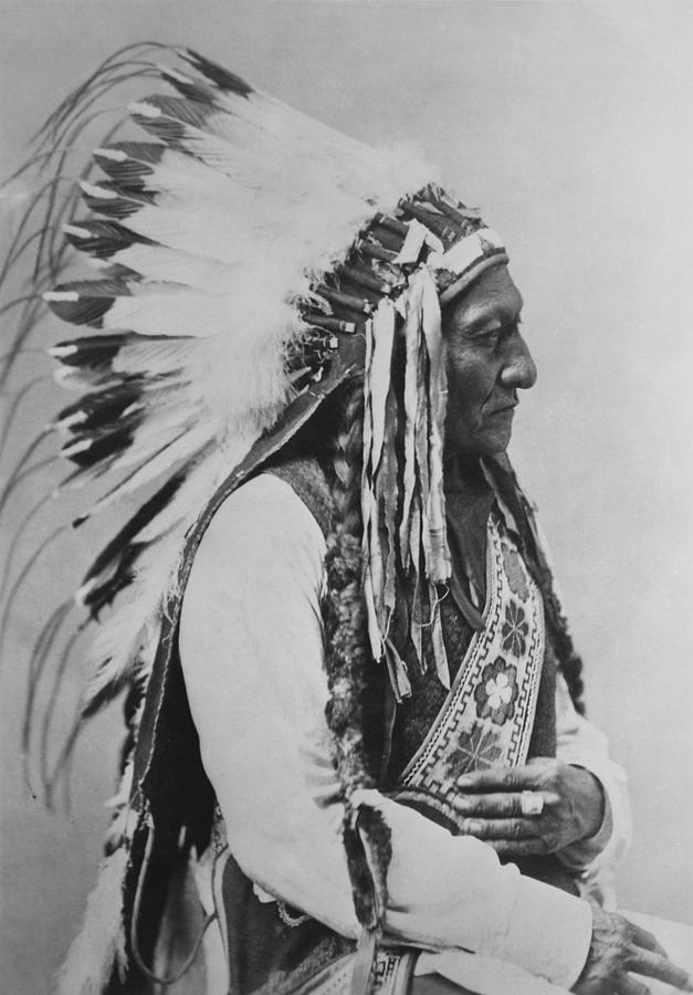 Native American Photograph - Chief Sitting Bull by War Is Hell Store