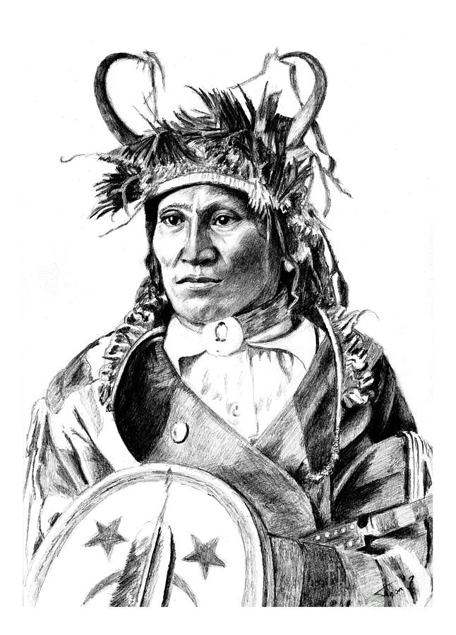 Chief Wets It Drawing - Chief Wets It by Toon De Zwart