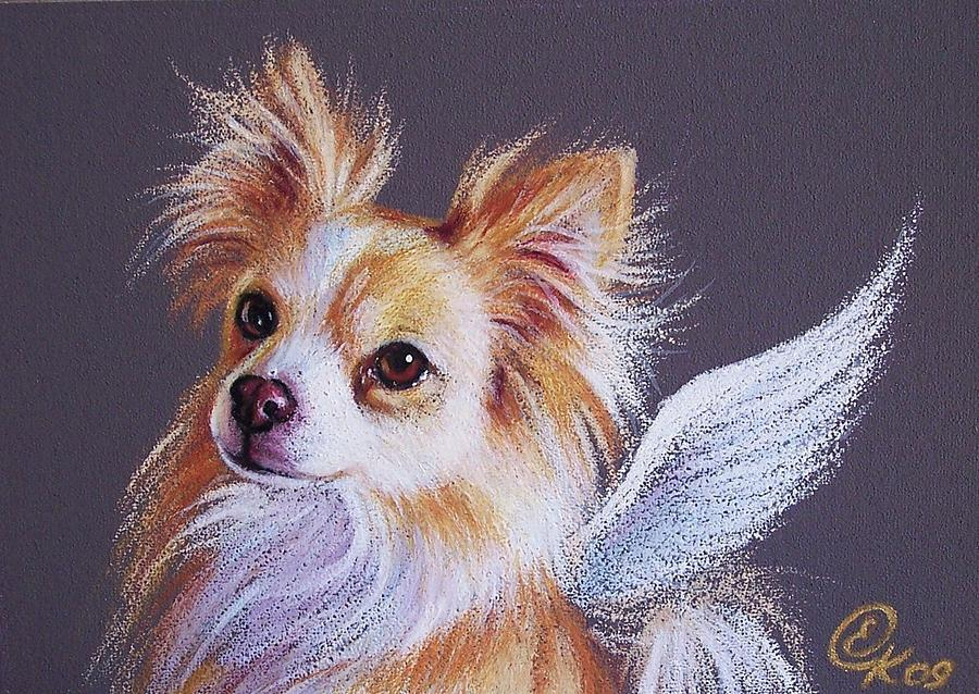 Chihuahua Angel by Elena Kolotusha