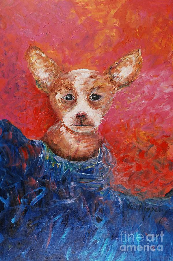 Dog Painting - Chihuahua Blues by Nadine Rippelmeyer
