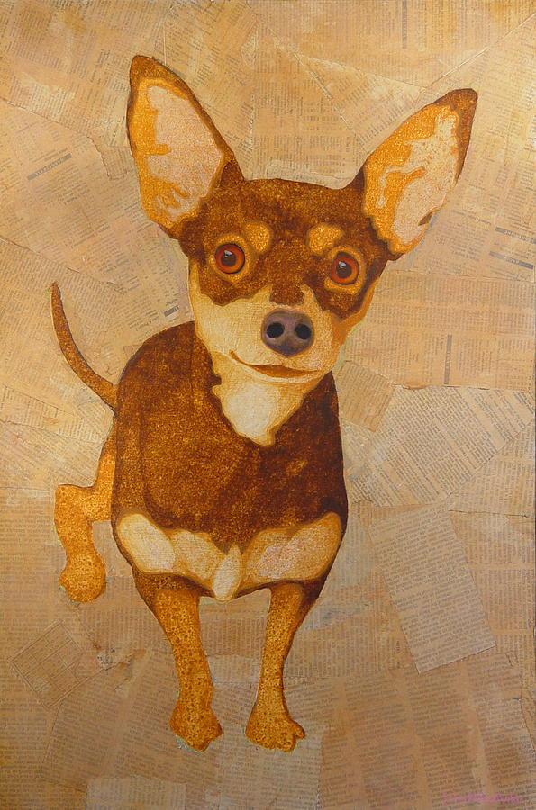 Chihuahua Painting By John Pinkerton
